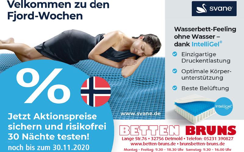Fjord-Wochen bei Betten Bruns