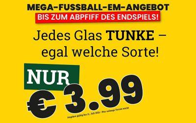 Die Fußball-EM-Spar-Aktion bei Tunke